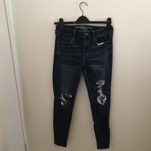 American Eagle Outfitters Rip Jean (: